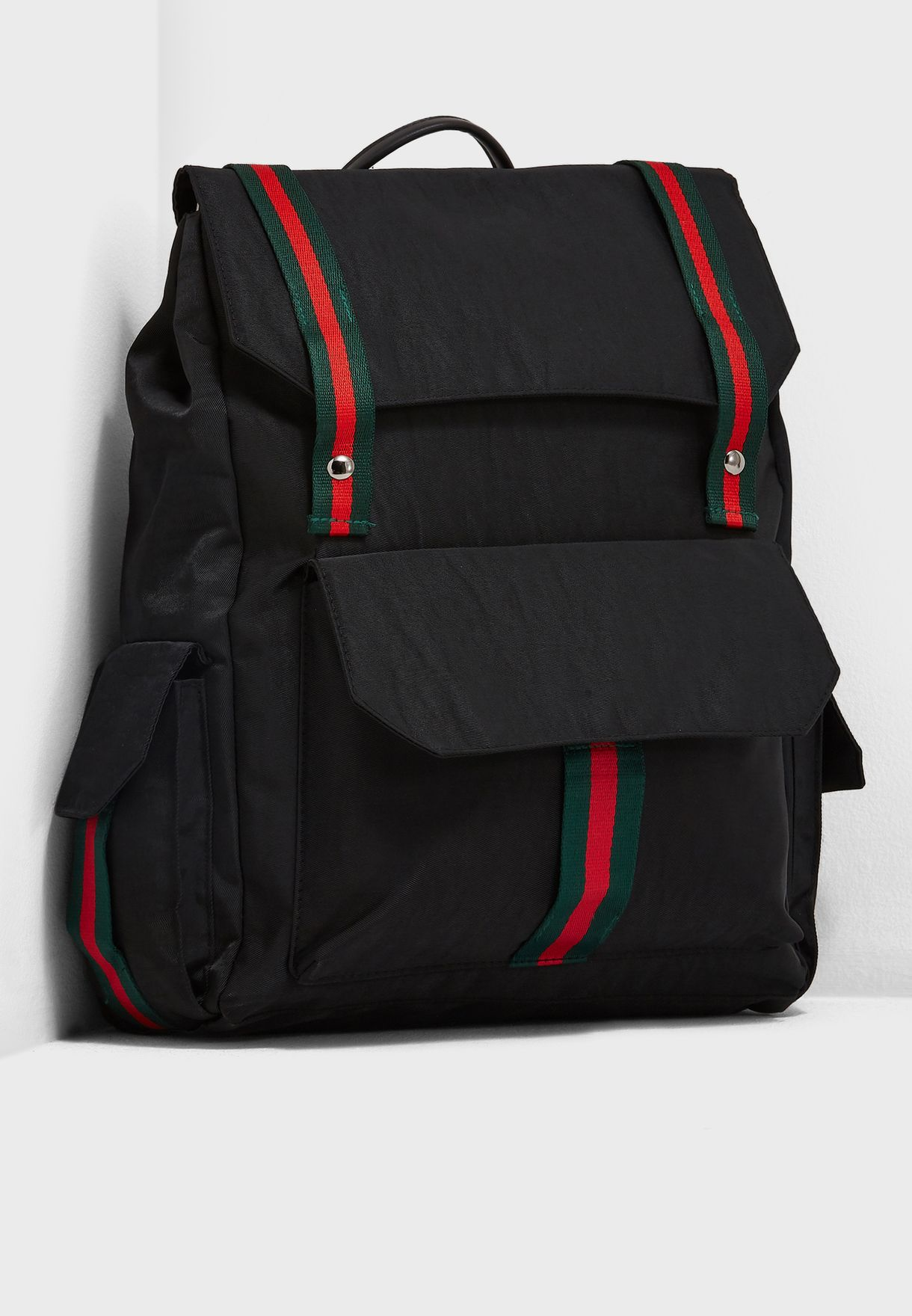 Webbing Detail Laptop Sleeve Backpack
