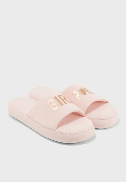 Girl Power Bedroom Slipper