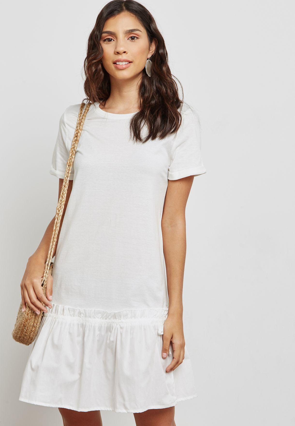 8127ea63c79 Shop Noisy May white Peplum Dress 27002372 for Women in Saudi - NO577AT39TQE