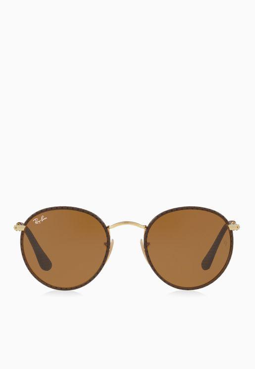 0RB3475Q Round Sunglasses