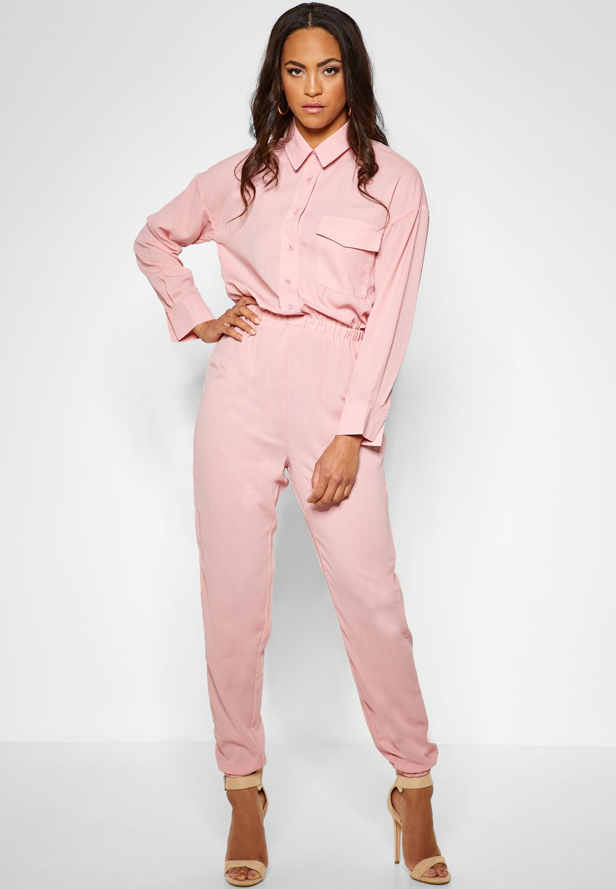 965d0628224 Shop Missguided pink Utility Boilersuit WSM9904384 for Women in UAE ...