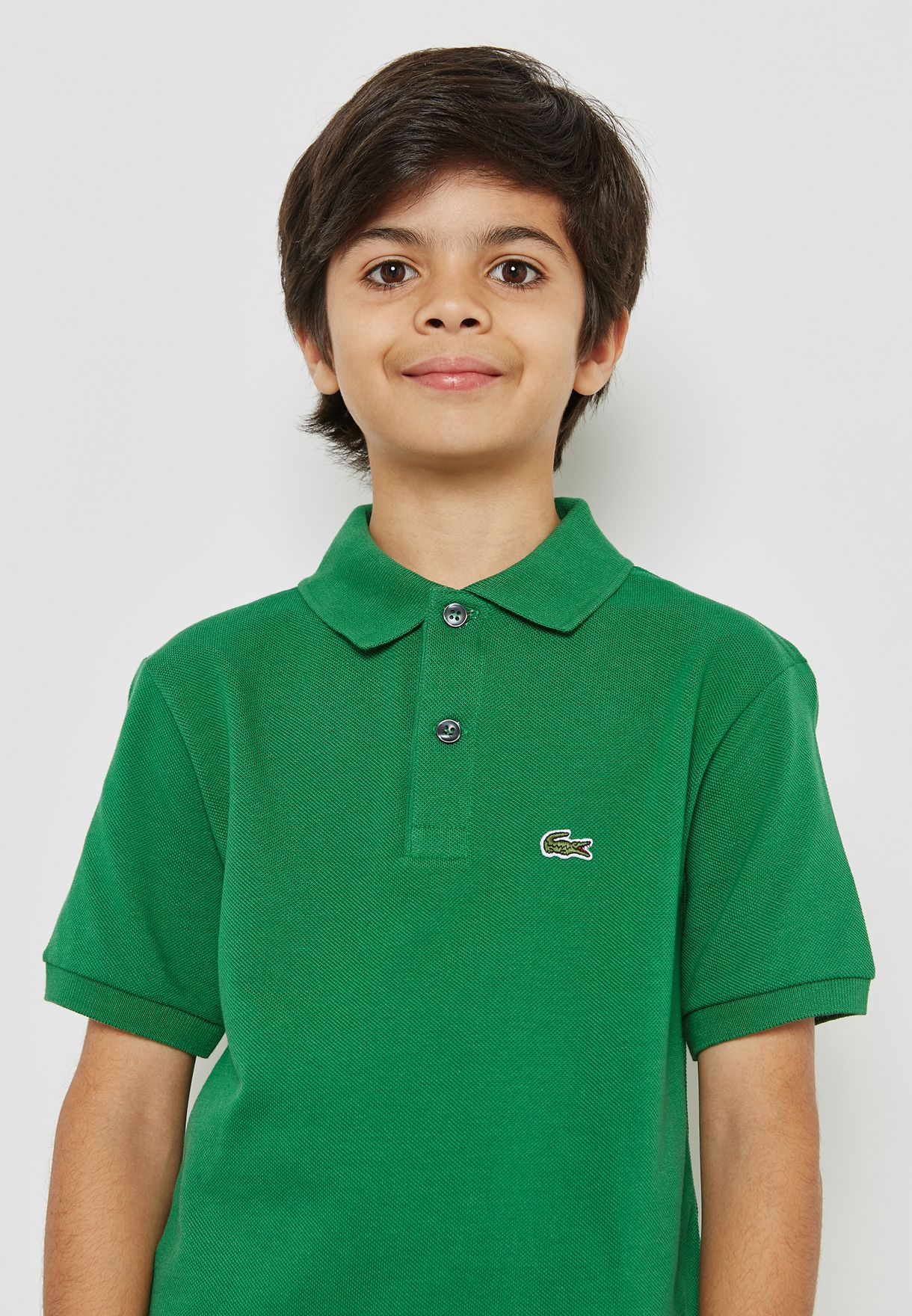 2bacbe56a Shop Lacoste green Little Classic Polo PJ2909-BNF for Kids in UAE ...