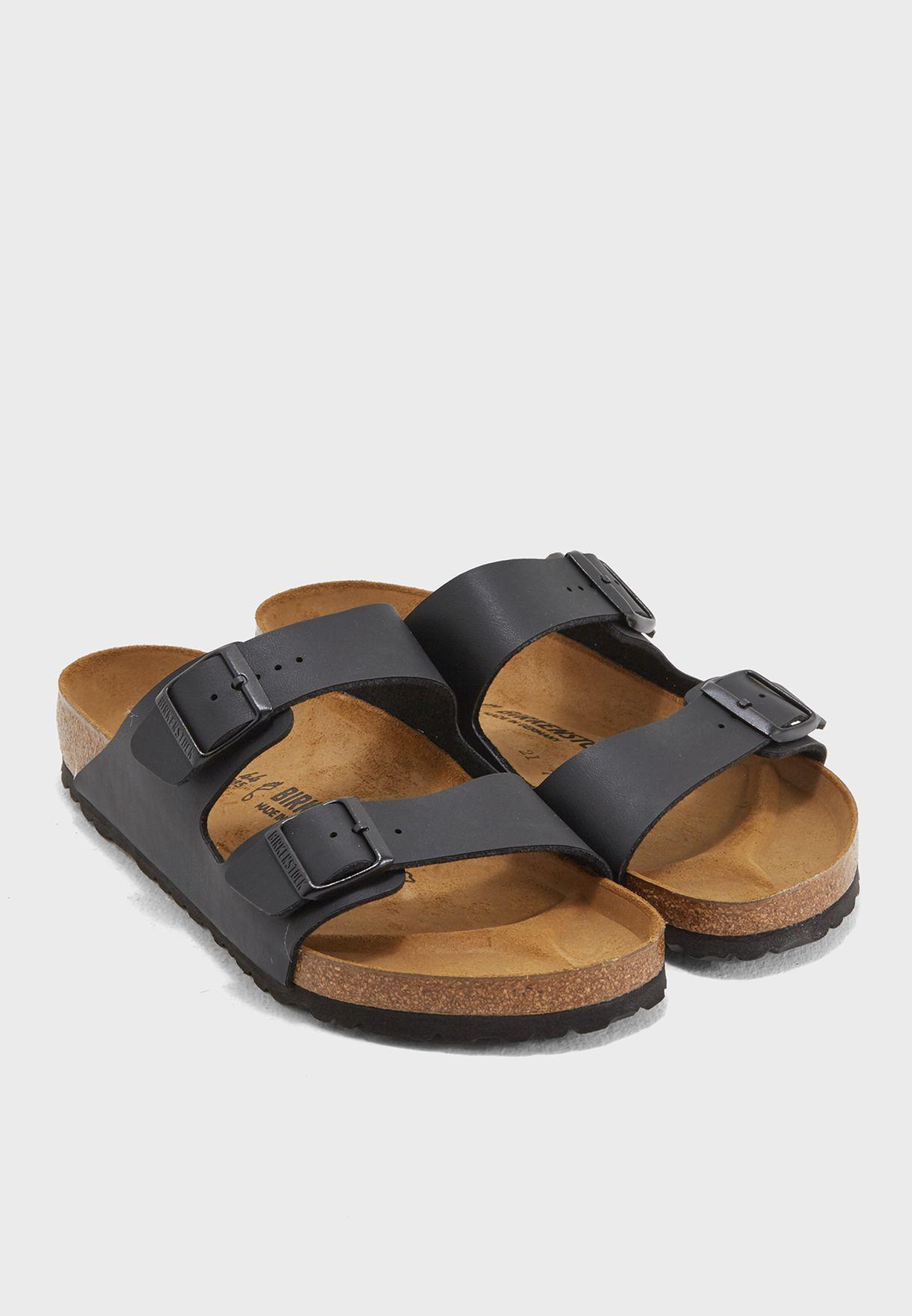 c6b98dba25c4 Shop Birkenstock black Double Buckle Sandals BKARIZ-51791 for Men in ...