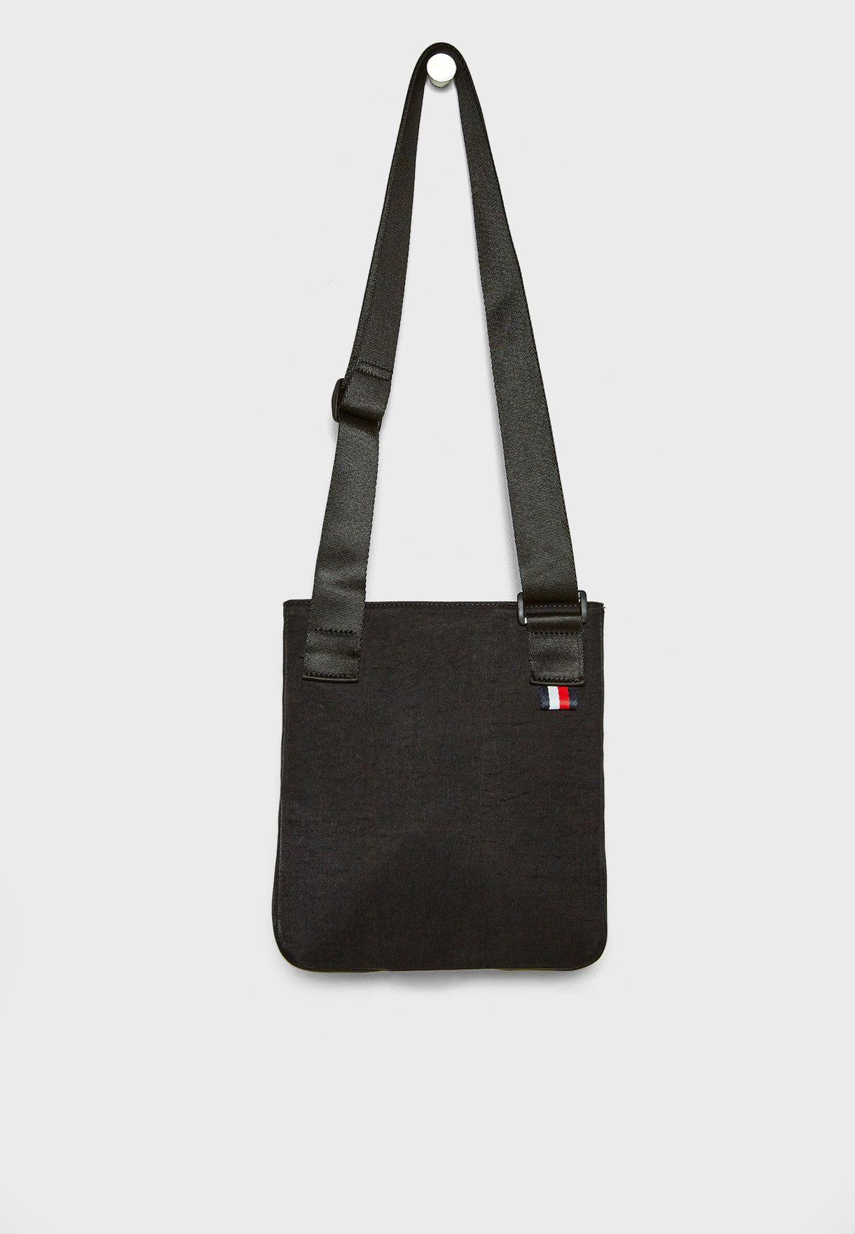 352f4b456f Shop Tommy Hilfiger black Utility Crossover Bag AM0AM03609 for Men ...