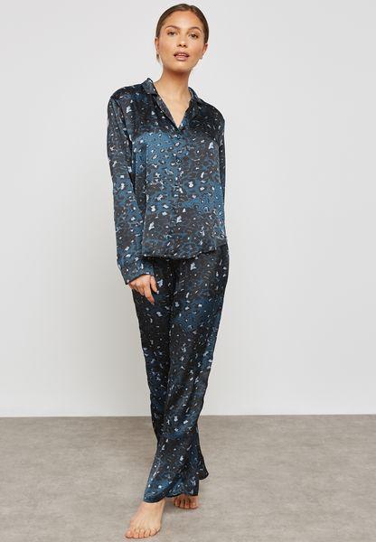 Leopard Print Pyjama Set