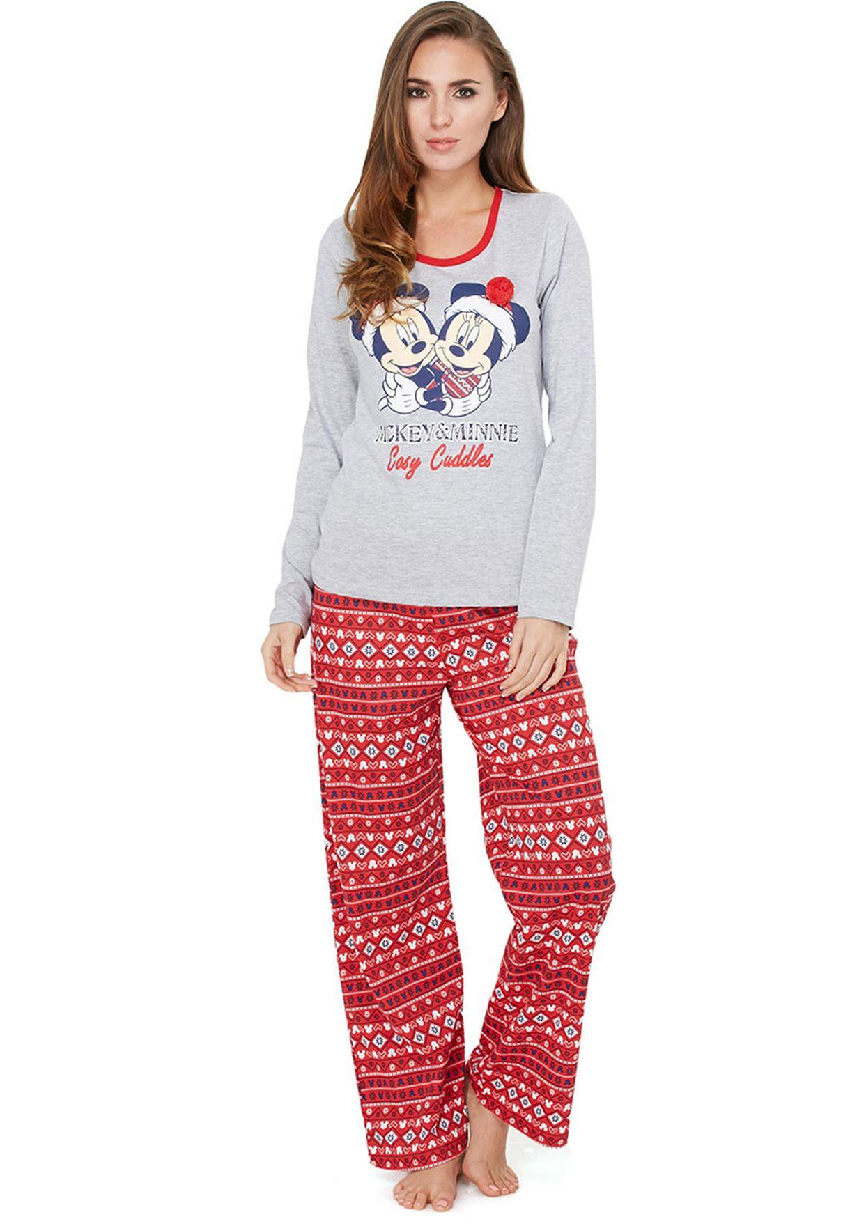 8993cb63dbb364 Shop Disney multicolor Mickey Mouse Pyjama Set for Women in UAE ...