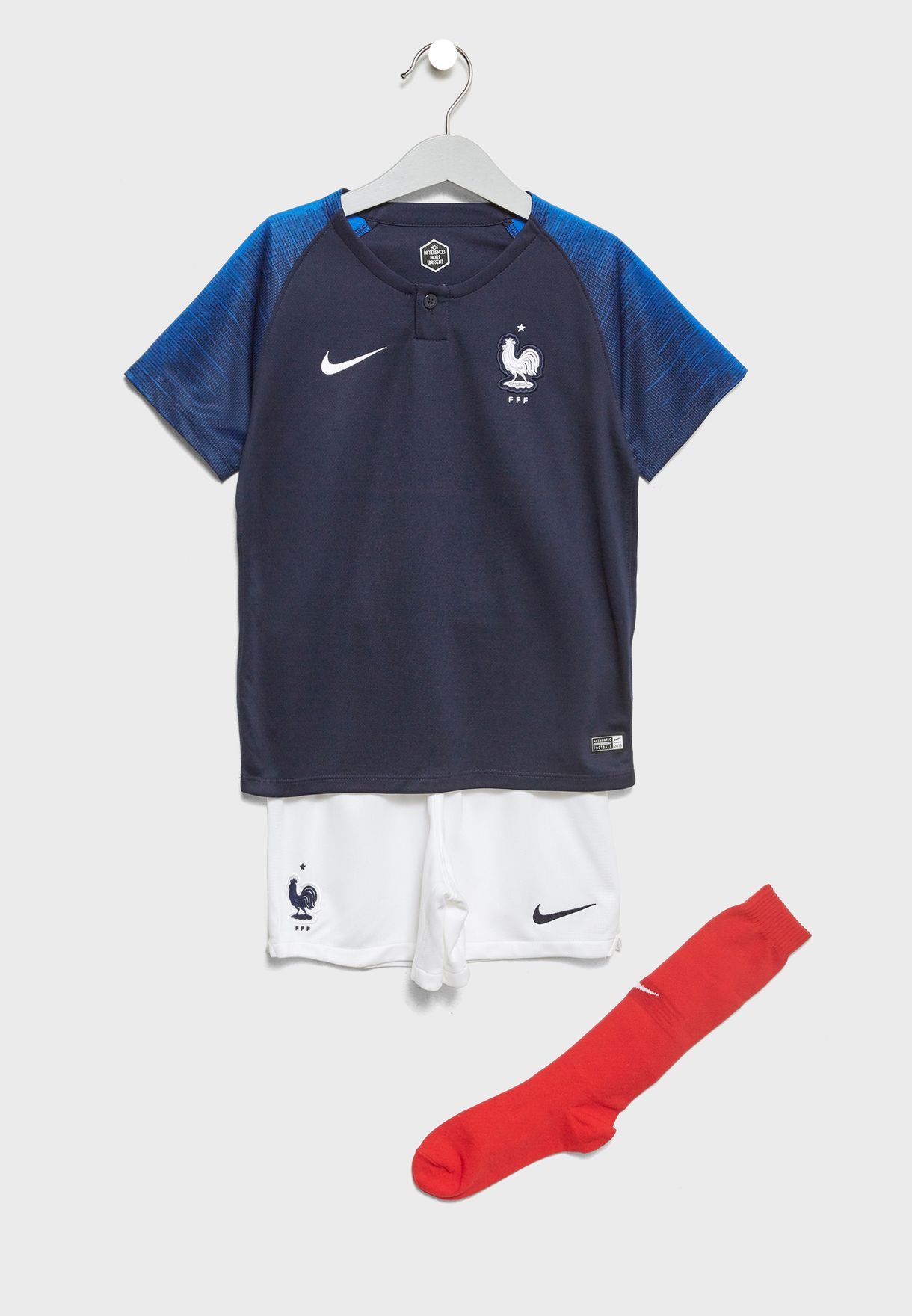 96777564d08 Shop Nike white Youth France Home Kit 894043-451 for Kids in UAE ...