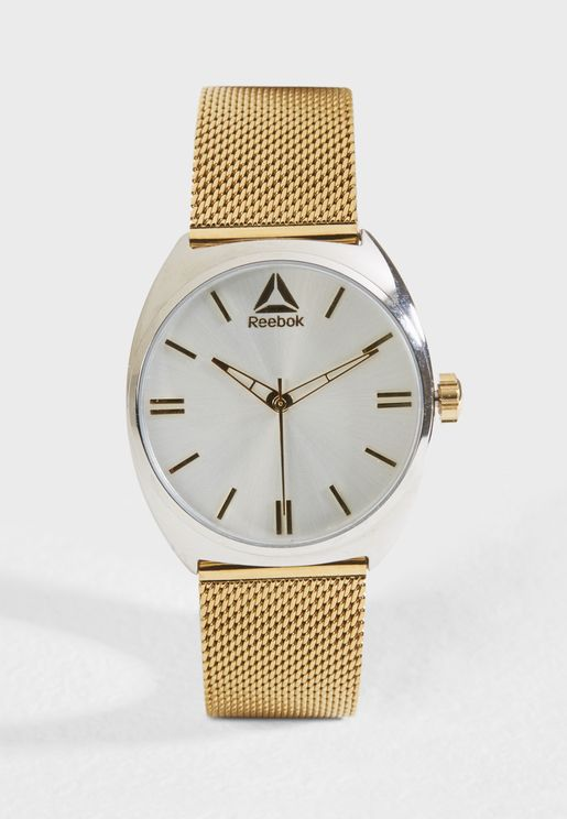 Pure Gold Silver Watch