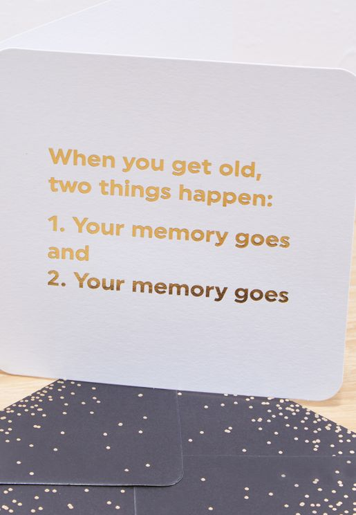 Get Old Two Things Card