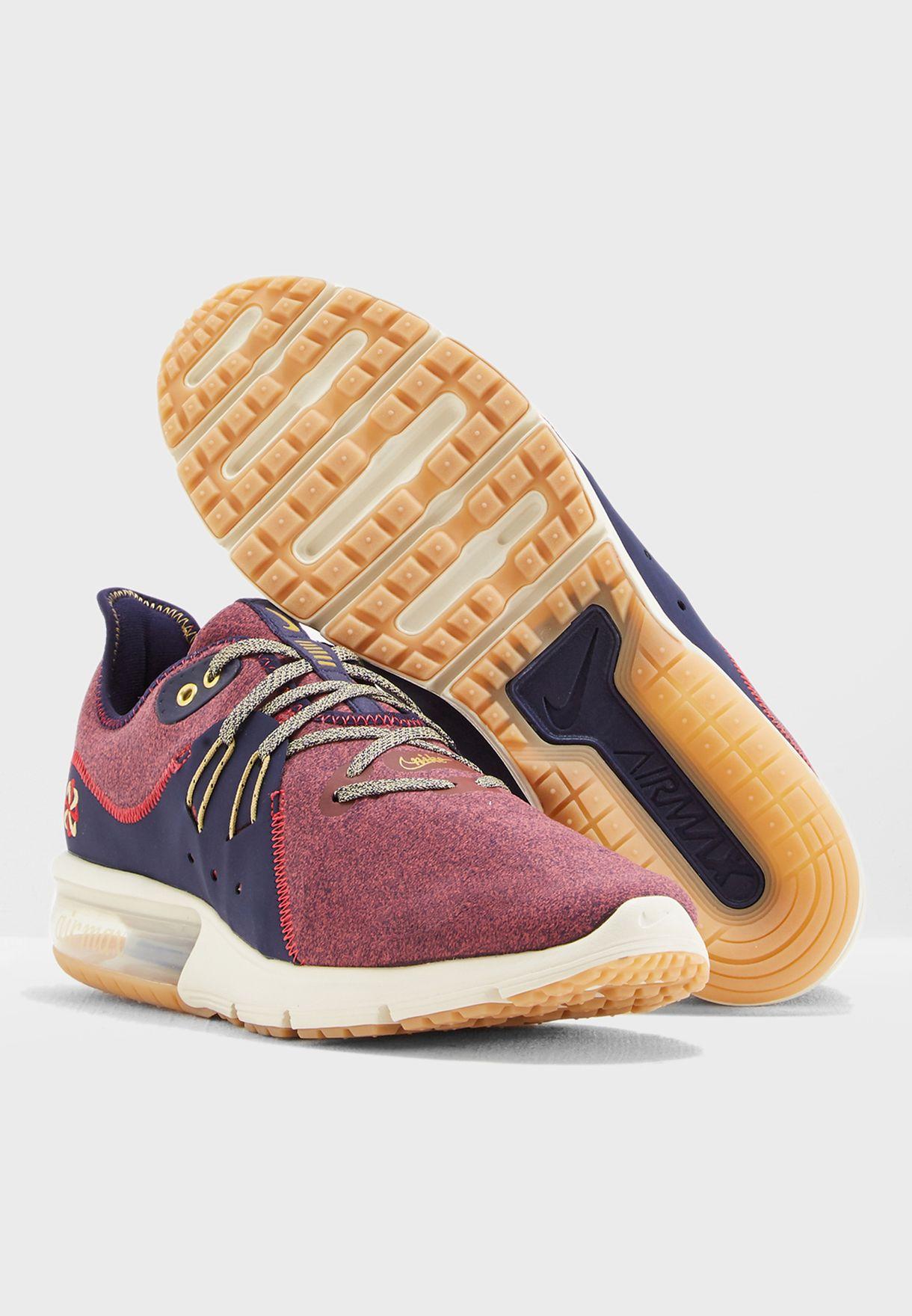 ea3e709d57 Shop Nike multicolor Air Max Sequent 3 PRM VST AR0253-600 for Men in ...