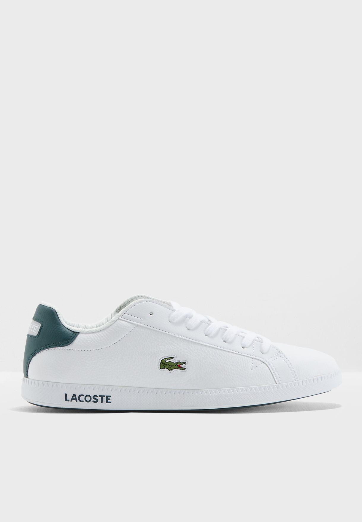 c05d6ca9a Shop Lacoste white Graduate Sneakers 35SPM0013-1R5 for Men in UAE ...