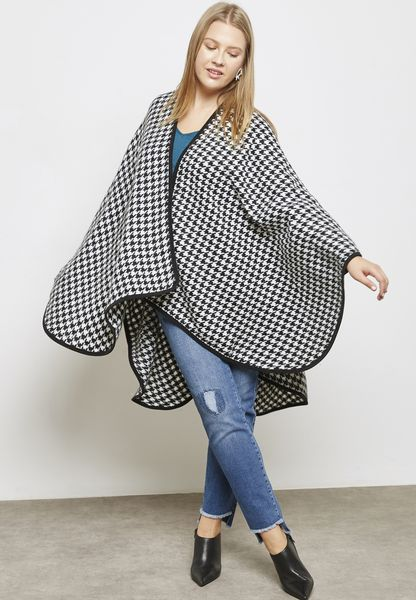 Dogtooth Print Cover Up