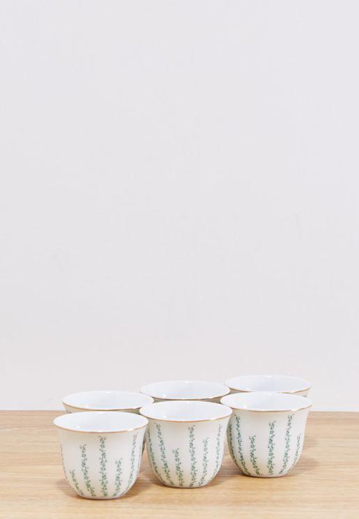6 Pack Leaf Chaffe Cups
