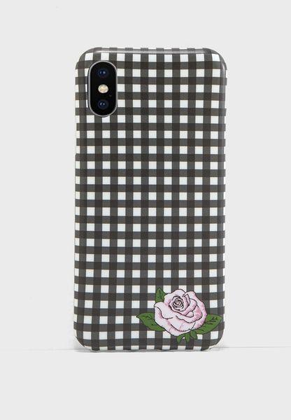 Gingham iPhone X Case