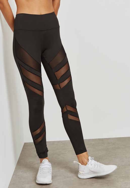 Transparent Intarsia Leggings