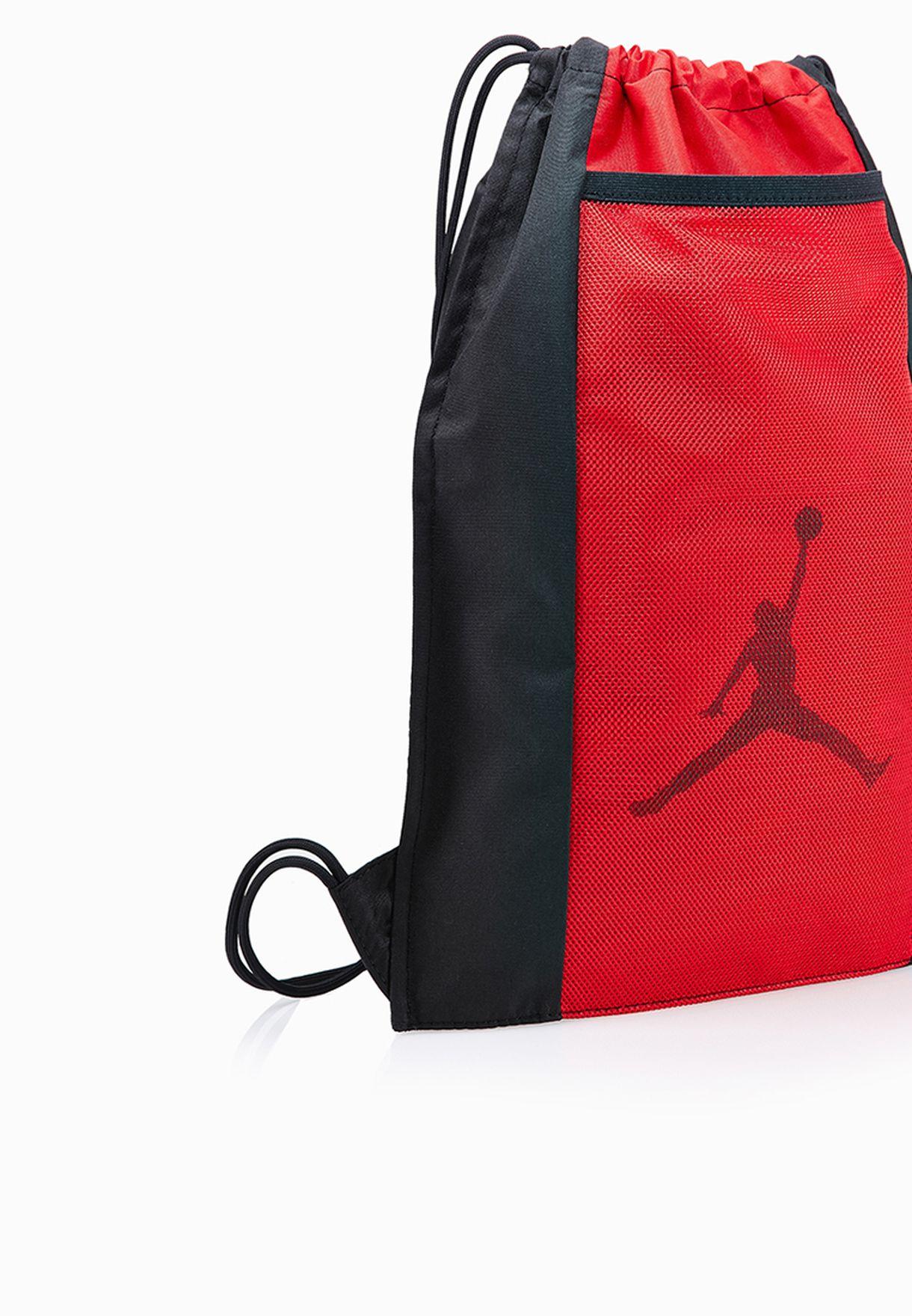 46d28eb0cdb5 Shop Nike red Jordan Dominate Gymsack 612839-012 for Men in ...