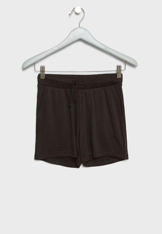 Tie Waist Striped Shorts