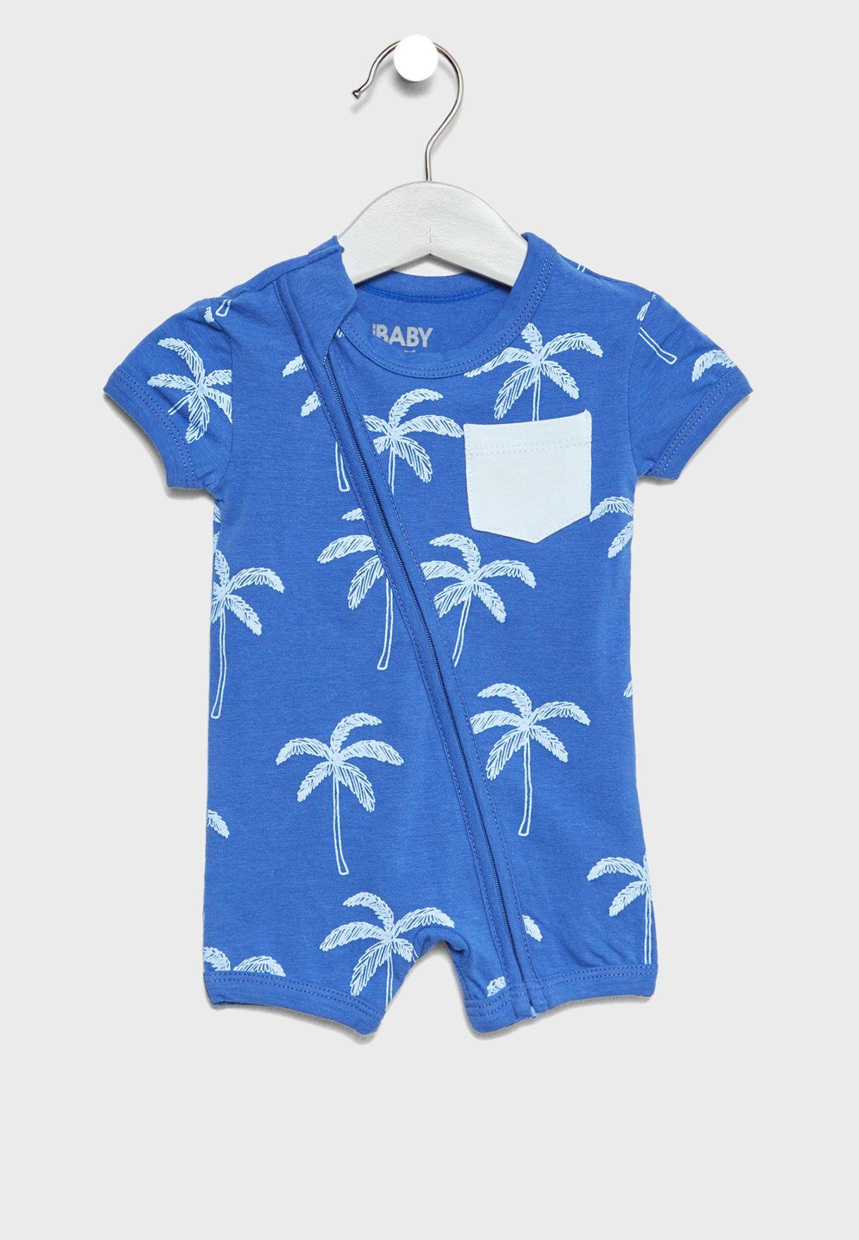 75b3338bb251 Shop Cotton On prints Little Zip Through Romper 761562-85 for Kids ...