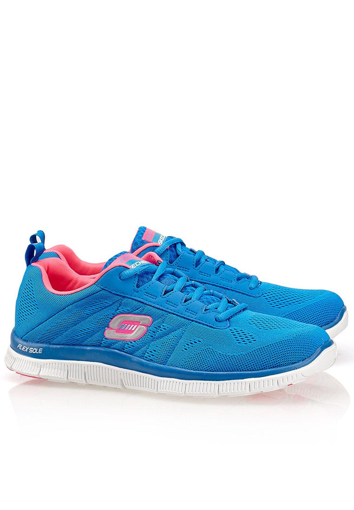 SKECHERS FLEX APPEAL Sweet Spot Sneakers Skech Knit Uppers Blue Aqua Sz 8