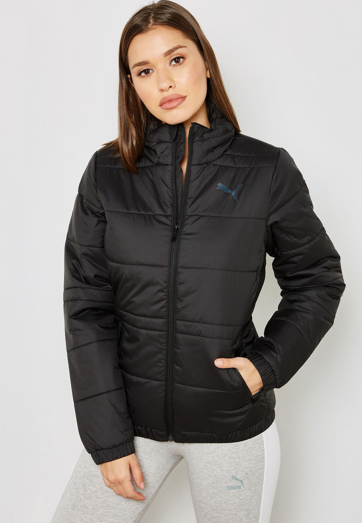 e3d7d35d032 Shop PUMA black Essential Padded Jacket 85164801 for Women in UAE ...
