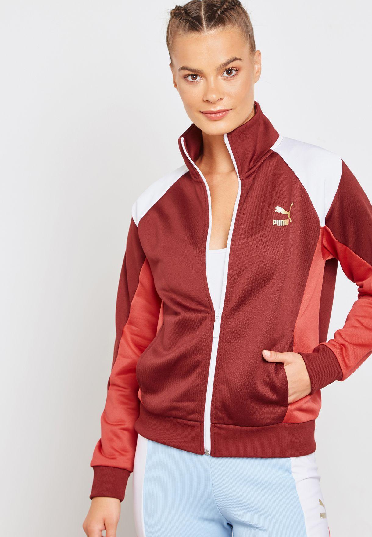 f296f327fbf8 Shop PUMA burgundy Retro Track Jacket 57651118 for Women in UAE ...
