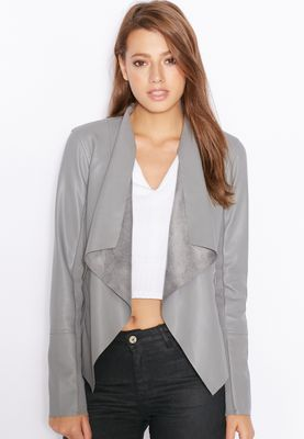 Miss Selfridge Waterfall PU Jacket