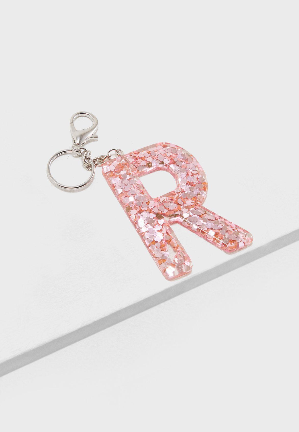 Shop Pink Cactus pink Initial R Glitter Keyring D2KR170003 for Women ... ef4ebc4b52