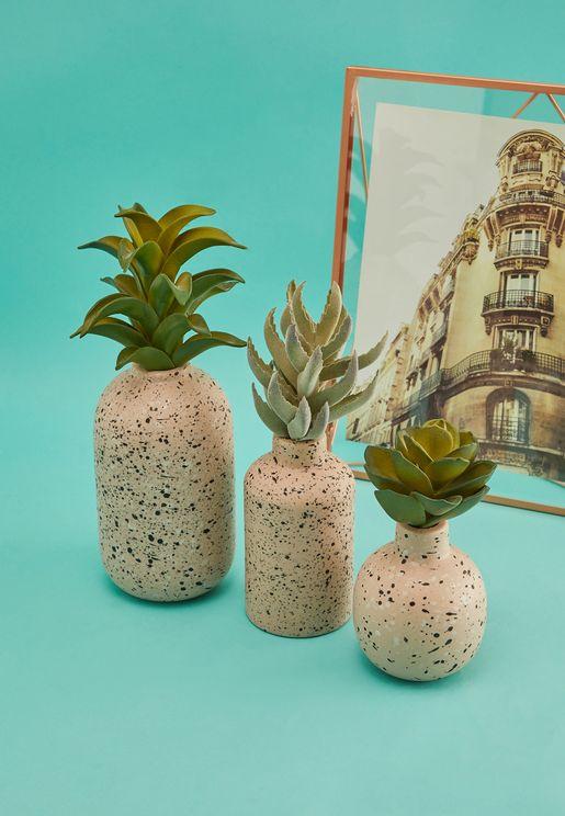 Dotted Ceramic Vase Set