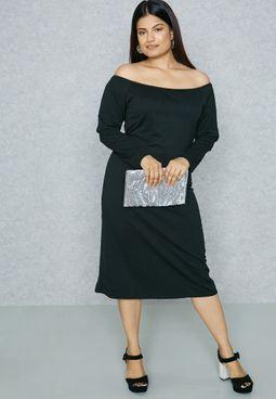 Ruffle Bardot Dress