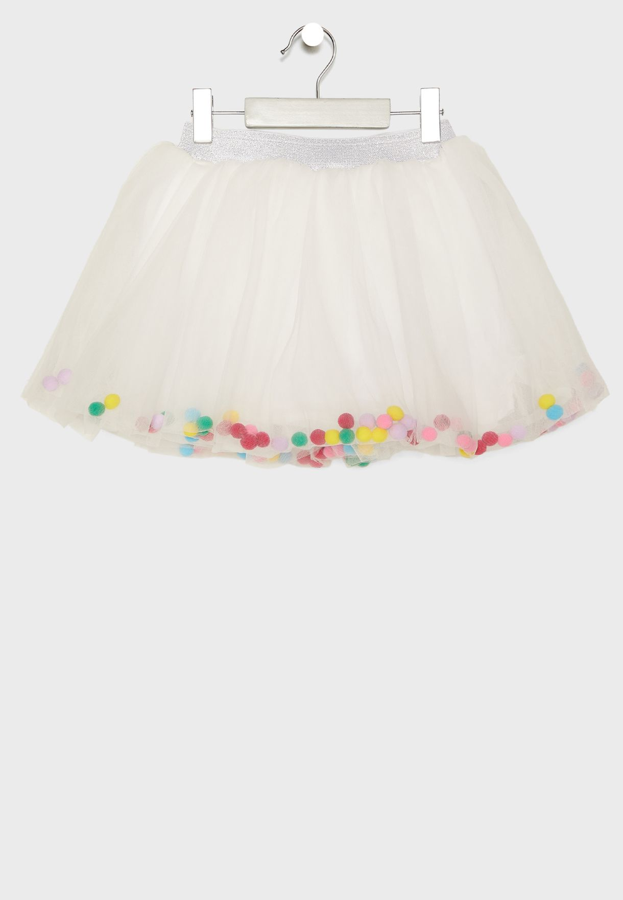 Little Pom Pom Detail Skirt