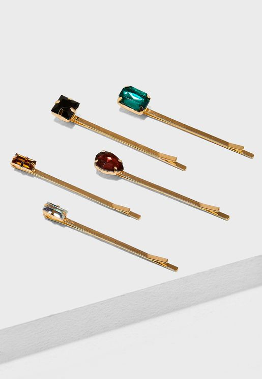 Jewel Stone Hair Grips