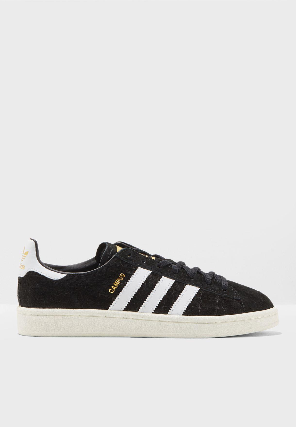 Details zu Adidas Originals Frauen Sneaker Schuhe Campus Schwarz Weiß CQ2095