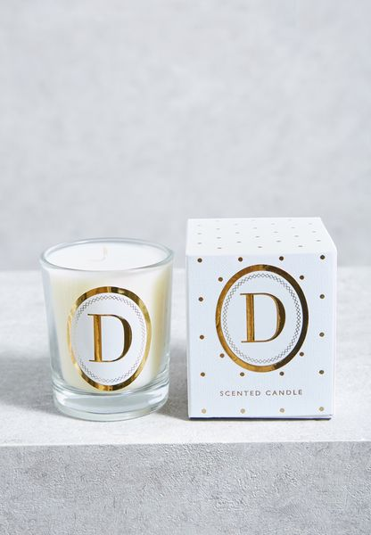 D Alphabet Votive Candle