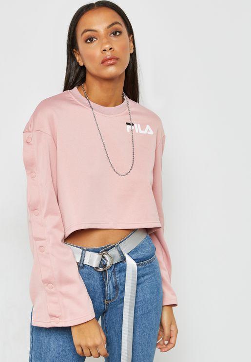 0049ef20f1b70 Aurora Flared Cropped Sweatshirt