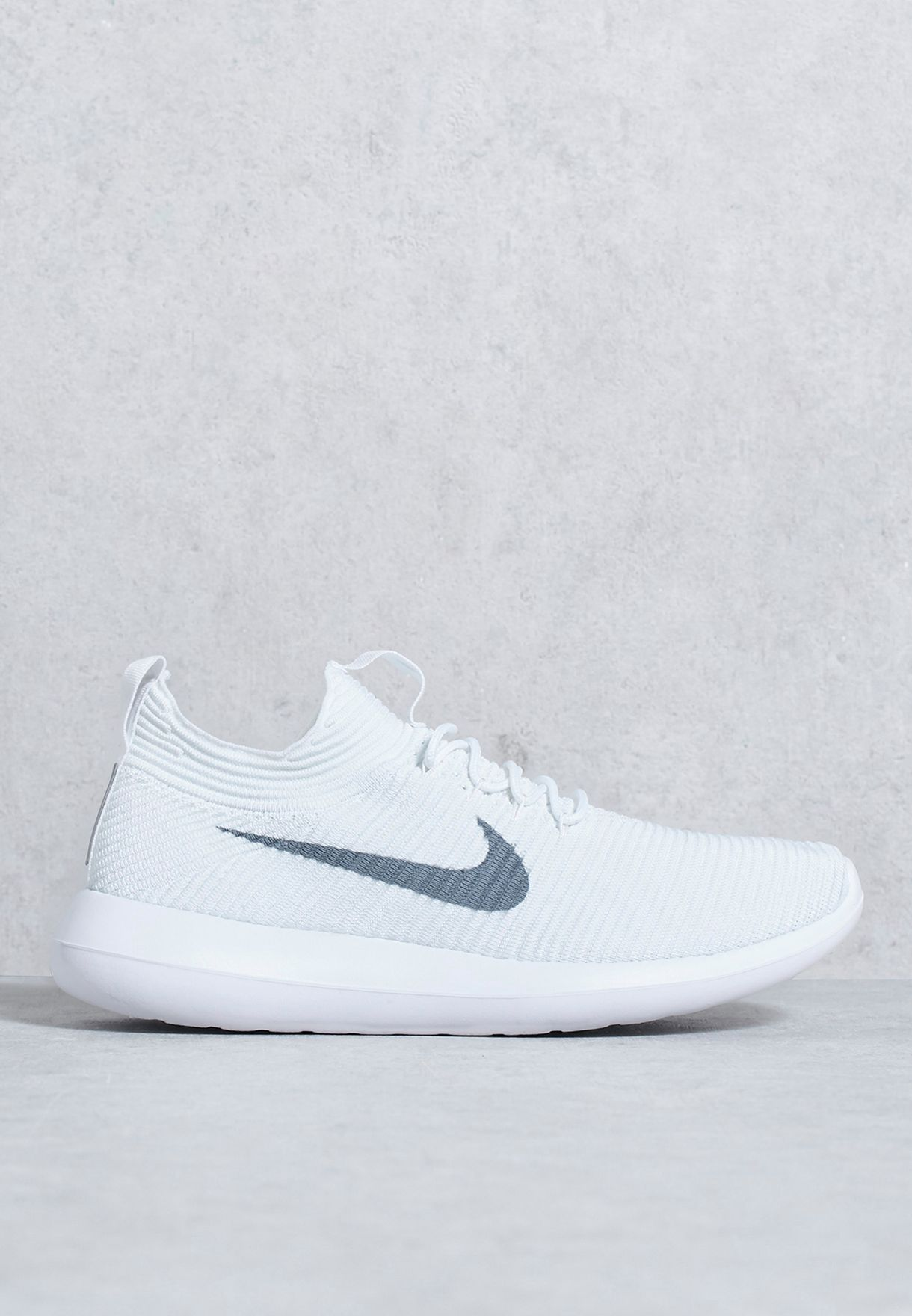 8191c0e1d6a94 Shop Nike white Roshe Two Flyknit V2 918263-100 for Men in UAE ...