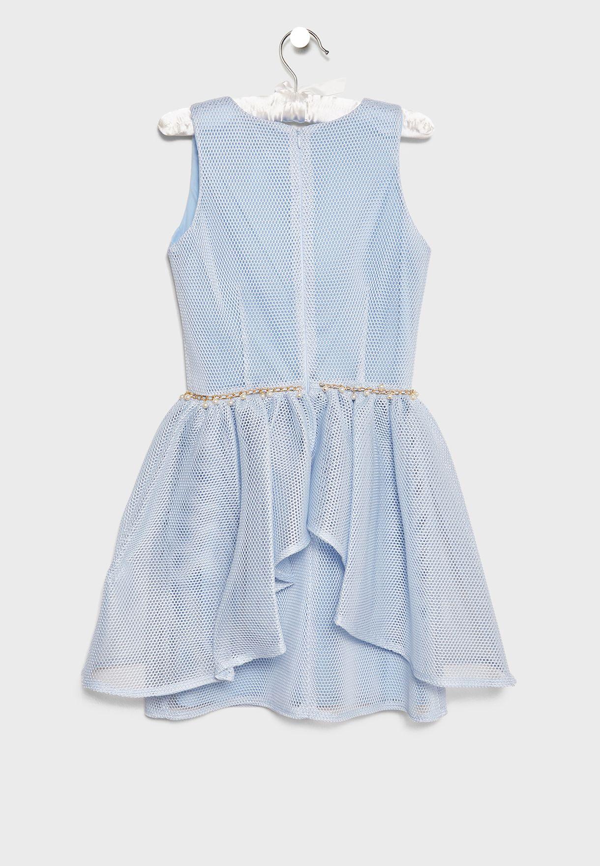 فستان شبك ببطانة