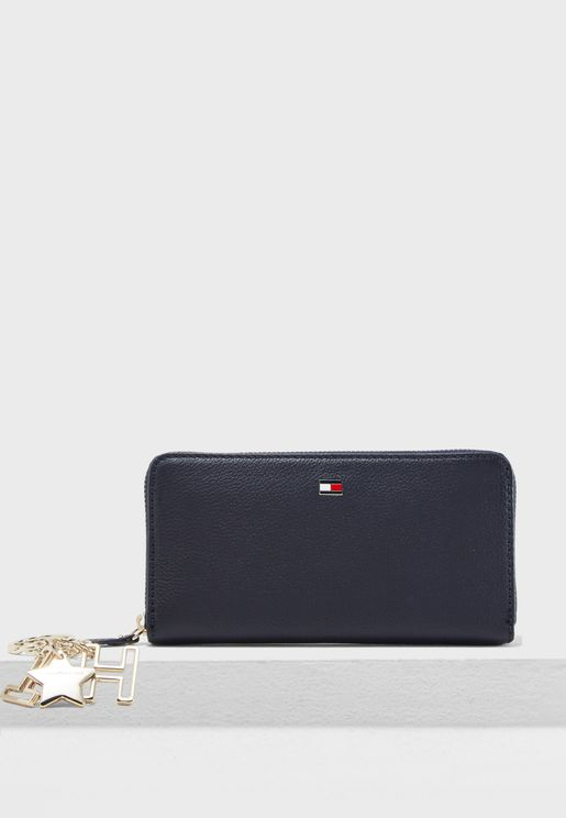Zip Around Purse + Keyring Gift Set