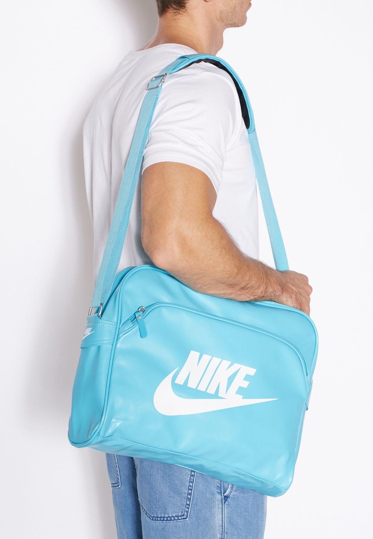 981e7edbb723 Shop Nike blue Heritage Track Bag BA4271-419 for Men in Saudi ...