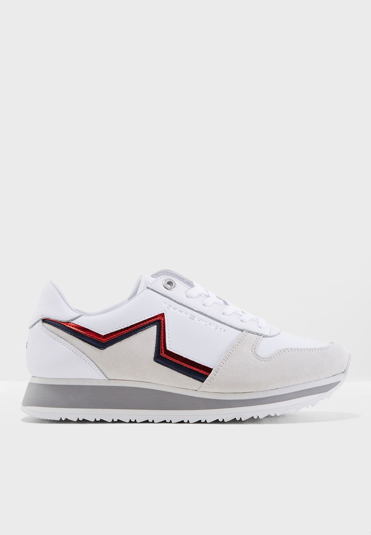 9804cf34a Shop Tommy Hilfiger white Star Retro Runner FW0FW03234100 for Women ...