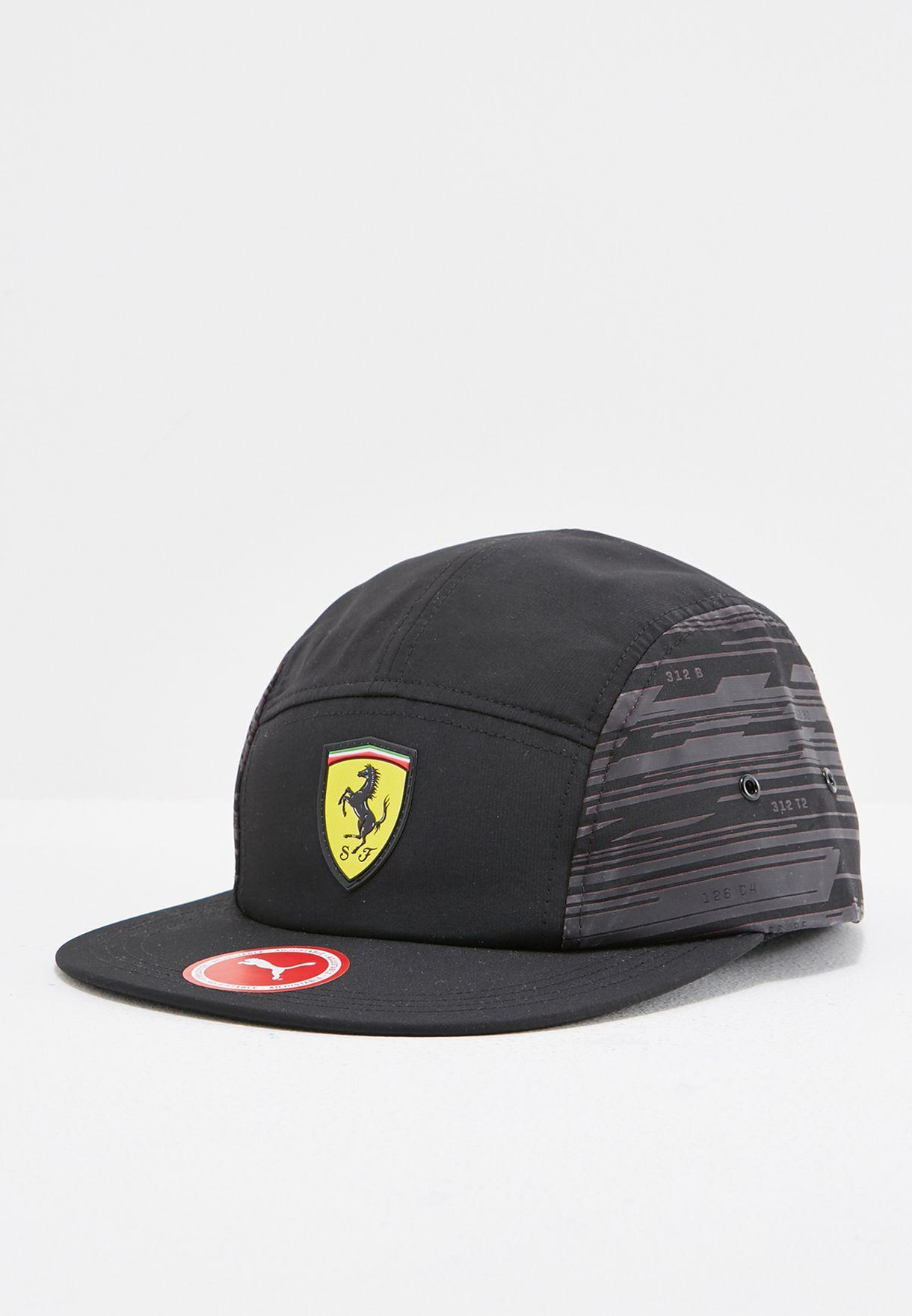 2d8de37c Shop PUMA black Ferrari Fanwear Transform Cap 02130601 for Men in ...