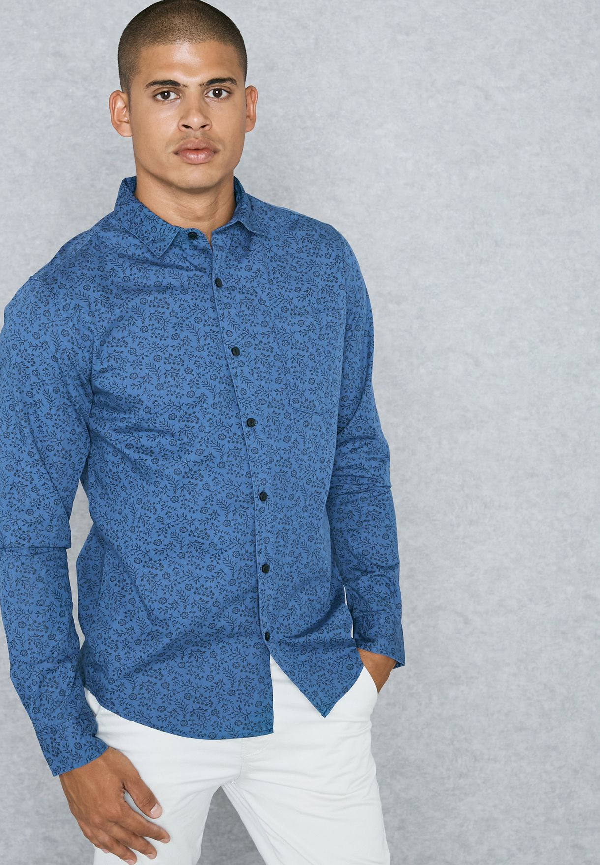 455a179d9f Shop Only sons blue Stymon Shirt 22007094 for Men in Qatar ...