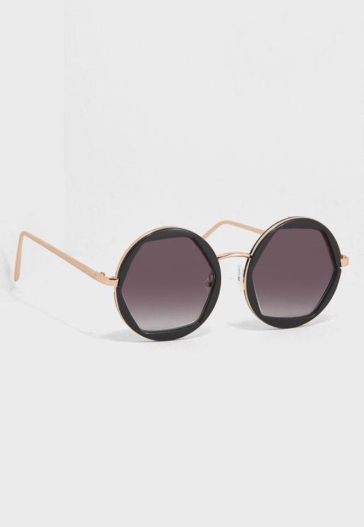 Octi Octagon Round Sunglasses