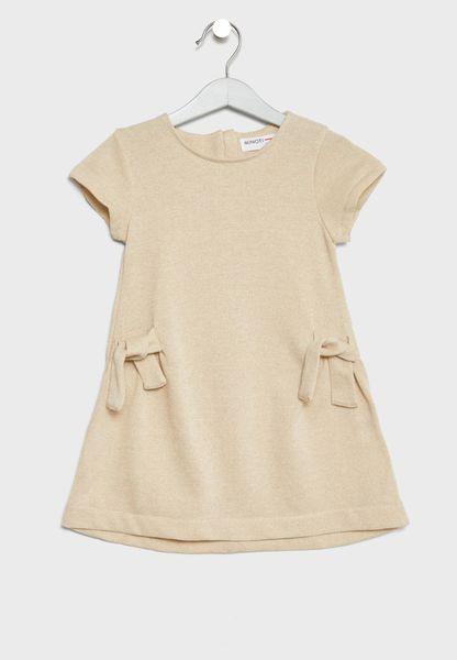 Little Lurex Marl Fleece Dress