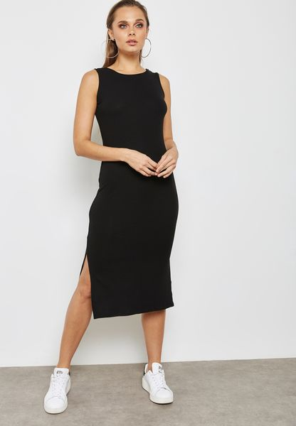 Bow Back Side Split Dress