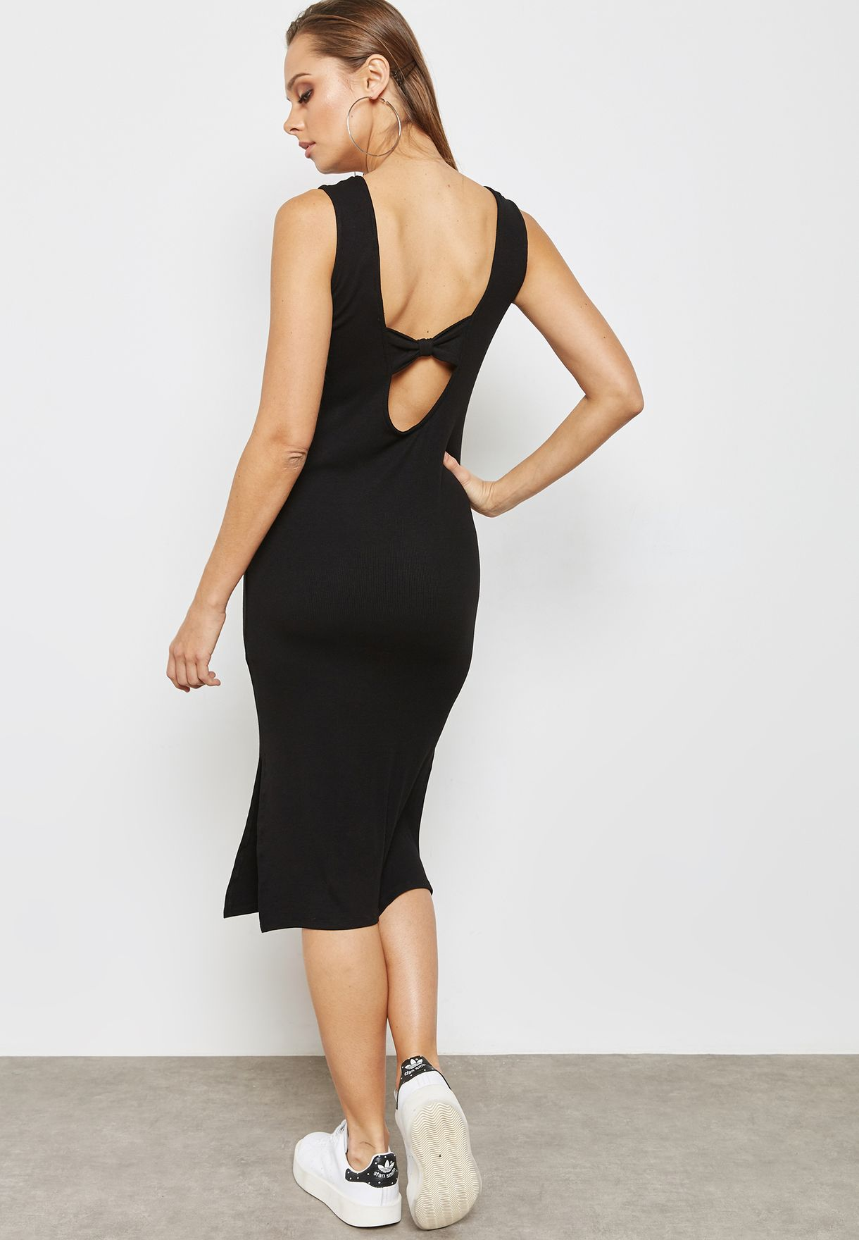 Bow Back Side Split Dress