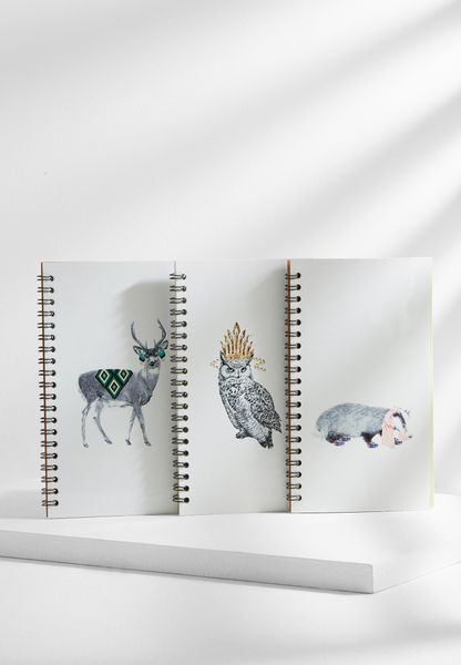 3 Pack Animals Notebook