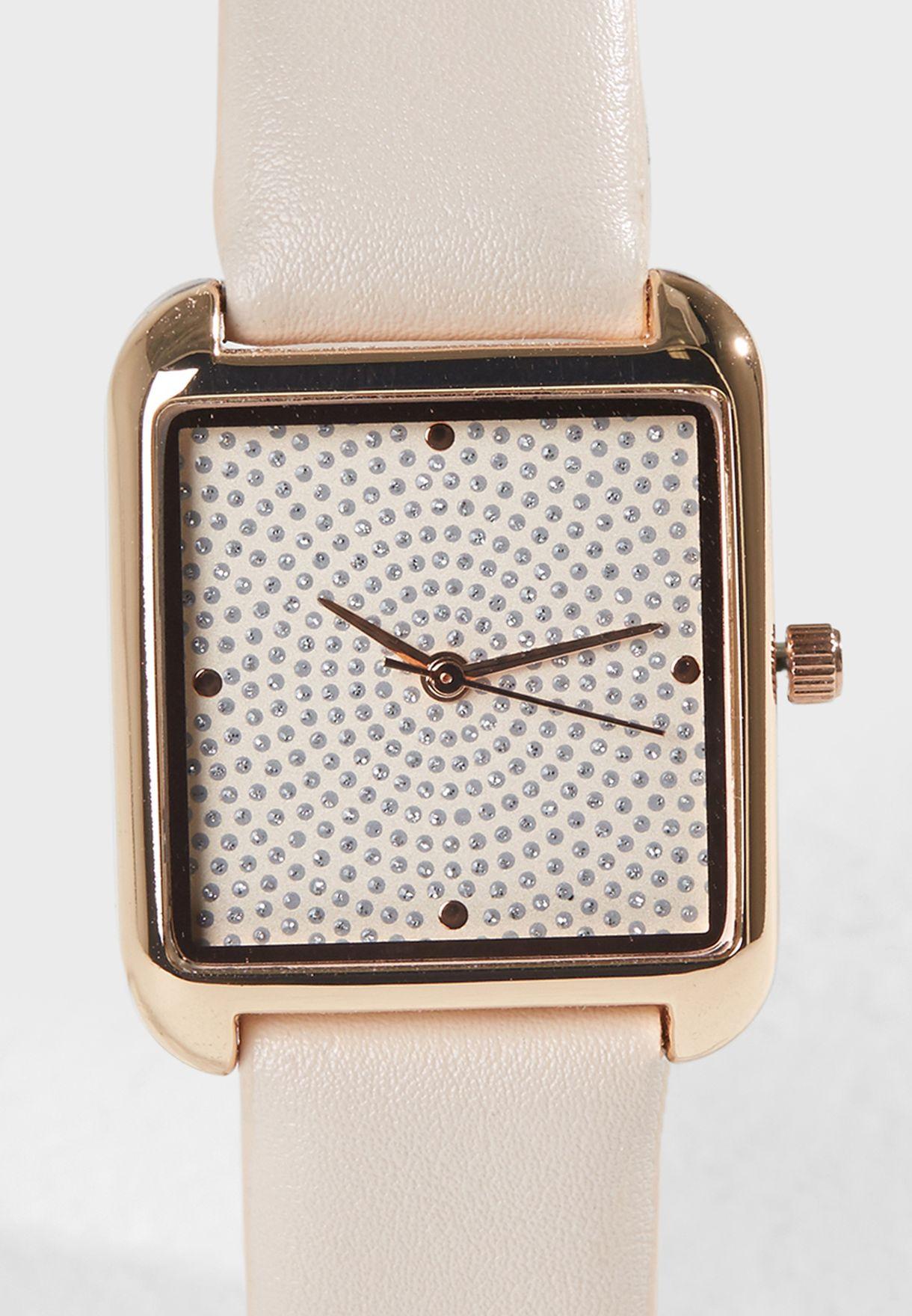 Glitter Dial Watch