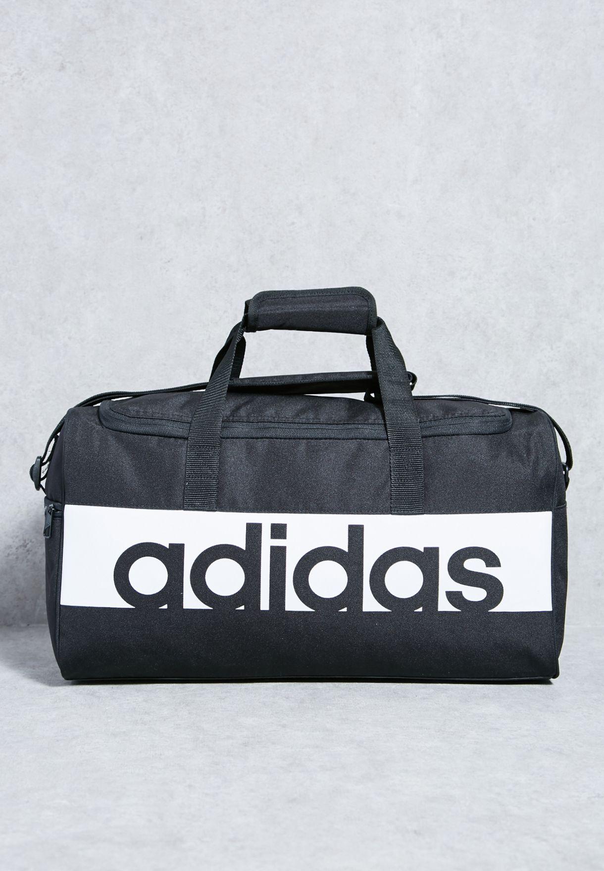 0d87de8e299e Shop adidas black Small Linear Performance Duffel S99954 for Men in Bahrain  - AD476AC29VNY