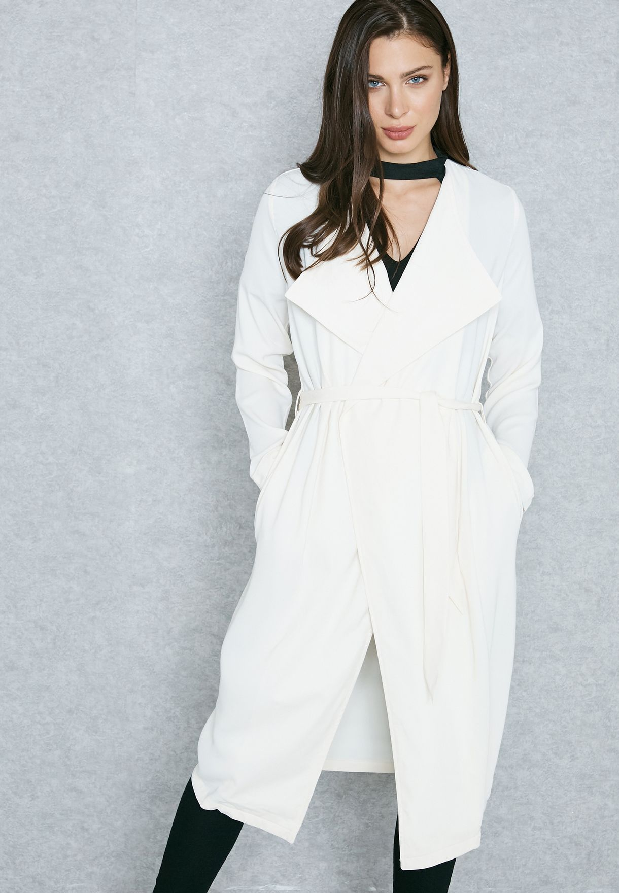 Shop Vero Moda white Essential Trench Jacket 10179204 for Women in Kuwait -  VE758AT29RNA d13072be029