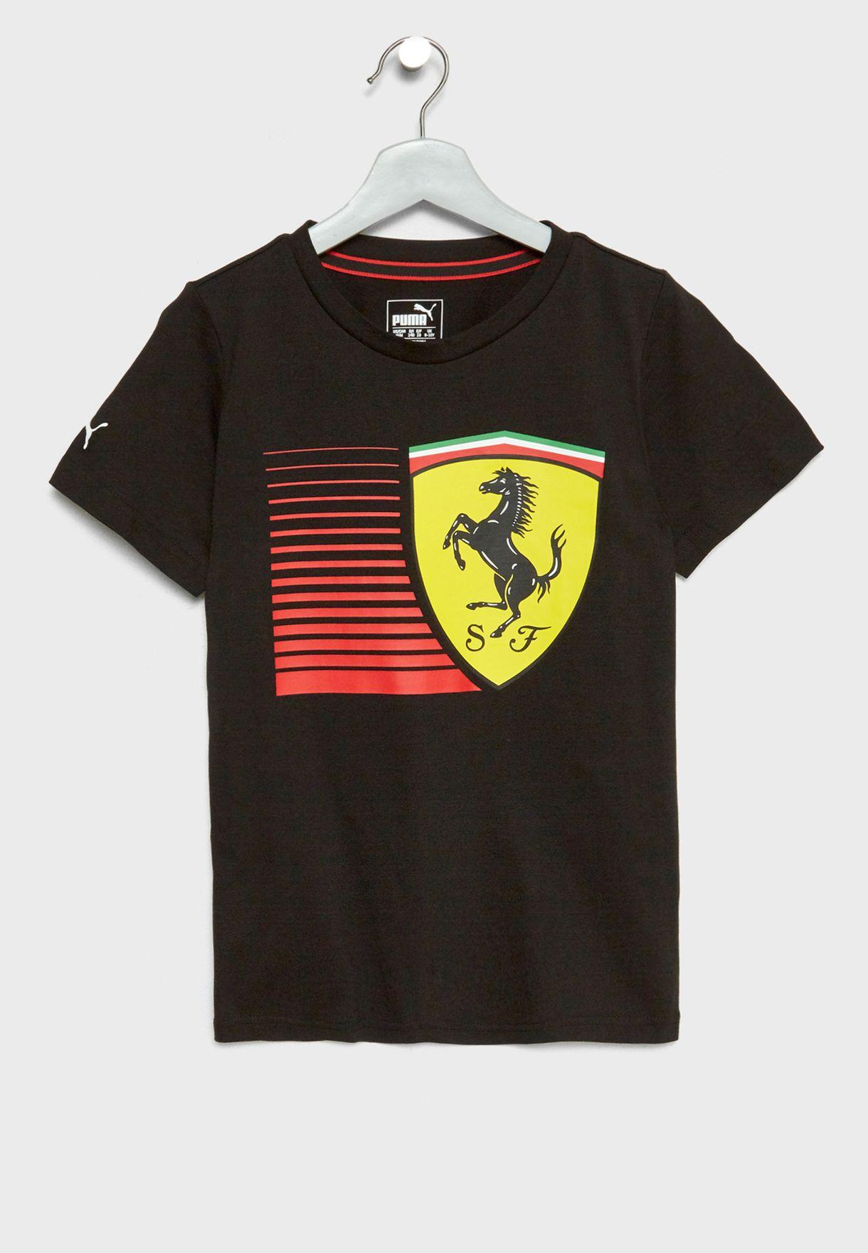 97ef89957 Shop PUMA black Kids Ferrari Big Shield T-Shirt 57672902 for Kids in ...